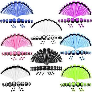 36pcs-Acrylic-Ear-Taper-Stretching-Plugs-Tunnels-Ear-Expander-Piercing-Gauges