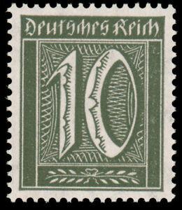 Germany #Mi159b MNH €250.00 1921 10pf BLACKISH OLIVE [136c]