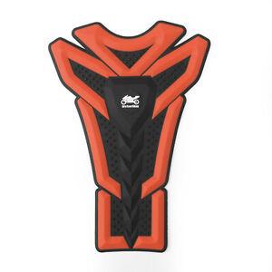 Moto-Rubber-Gas-Tank-Pad-Fish-Bone-Protector-Decal-Sticker-Pour-Kawasaki-Orange