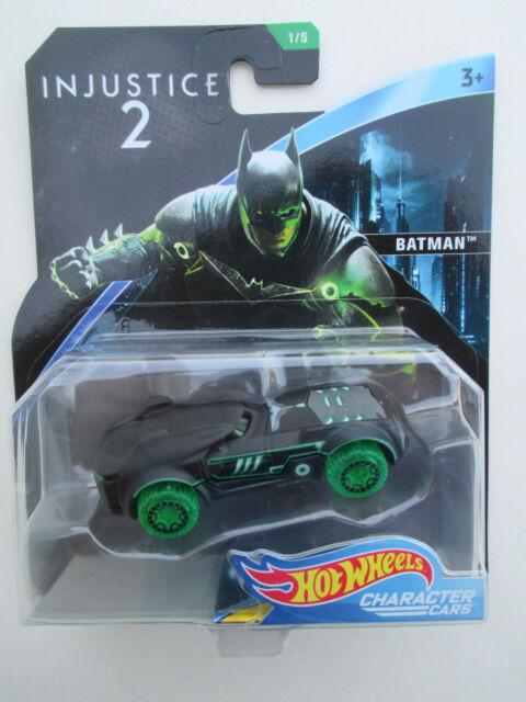 HOT WHEELS CHARACTER CARS-INJUSTICE 2 *BATMAN* VIGILANTE MACHINE NEW! HTF