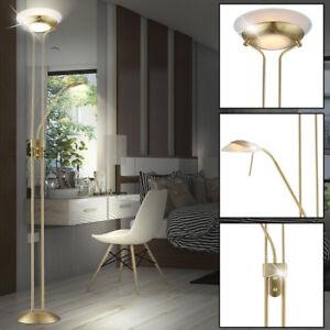 Luxus-Deckenfluter-Stehleuchte-Gaestezimmer-Stand-Lampe-Dimmer-beweglich-Schalter