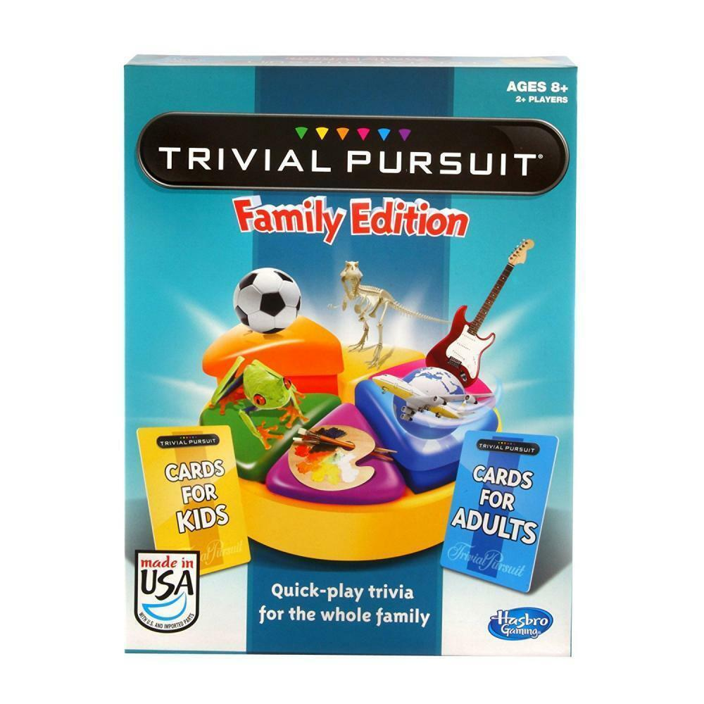 Games Trivial Pursuit Family Edition For Kids And Adults Board Game New RRP