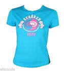 Ecko Red Bleu Turquoise Blanc Et Rose ajusté T Shirt S M 36 38