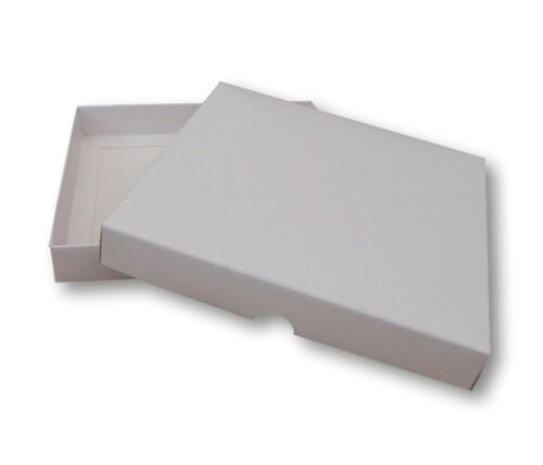 5 WHITE 7 X 7  INCH BOXES GREETING CARD GIFTS LINGERIE JEWELLERY