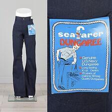 31x36 Vintage NOS Seafarer Bohemian Jeans Denim High Waist Bell Bottom Indigo