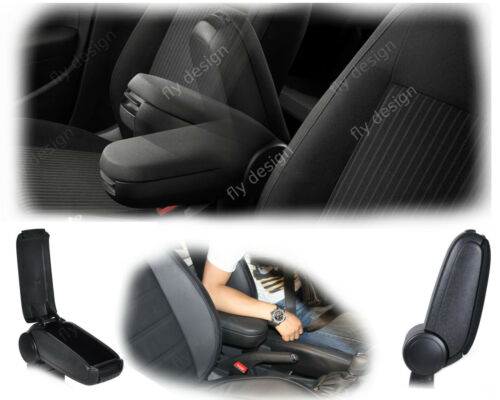 Volkswagen Polo V 5 6r el reposabrazos central apoyabrazos Armrest accoudoir tela negra