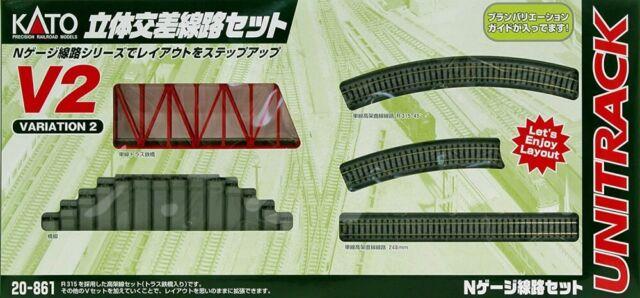 KATO N Scale 20-861 Unitrack Variation Set V2 Single Track Viaduct for sale online