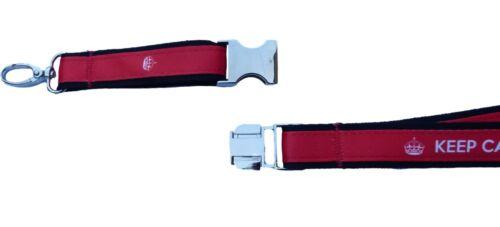 VIBRANT/&DETAILED KEEP CALM Neck Strap Satin Lanyard Charm Chain Holder Mp3 USB