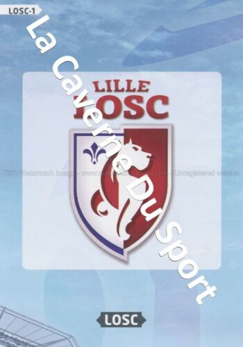 LOSC-01 LOGO BADGE SCUDETTO # LILLE CARD ADRENALYN FOOT 2014 PANINI