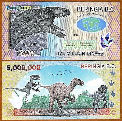 UNC /> Dinosaur /> Velociraptor 5,000,000 Beringia B.C. 2013 5000000 Polymer
