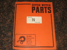 Ditch Witch T6 Trailer Parts Catalog Book Manual
