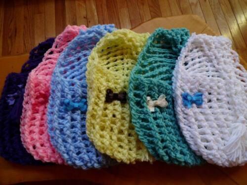 CUSTOM ORDER, handmade crochet hanging stork for reborn baby , ANY Color!