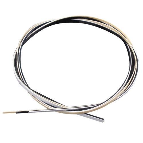 3 Stück Kunststoff Gitarre elektrische Bass Bindung Einlage Streifen