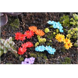 Miniature Multi Fake Flowering Babies Breath Trees Fairy Moss