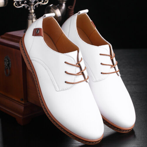 British Mens Britain Loafers Oxfords Dress Formal Lace Up Casual Leather Shoes