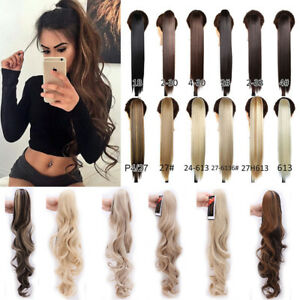 Mega thick claw on ponytail clip in hair extensions long straight image is loading mega thick claw on ponytail clip in hair pmusecretfo Choice Image