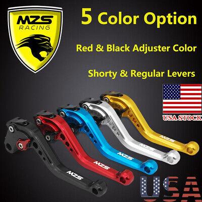 MZS Short Brake Clutch Levers for Suzuki GSXR600 2006-2010,GSXR750 2006-2010,GSXR1000 2005-2006-Blue