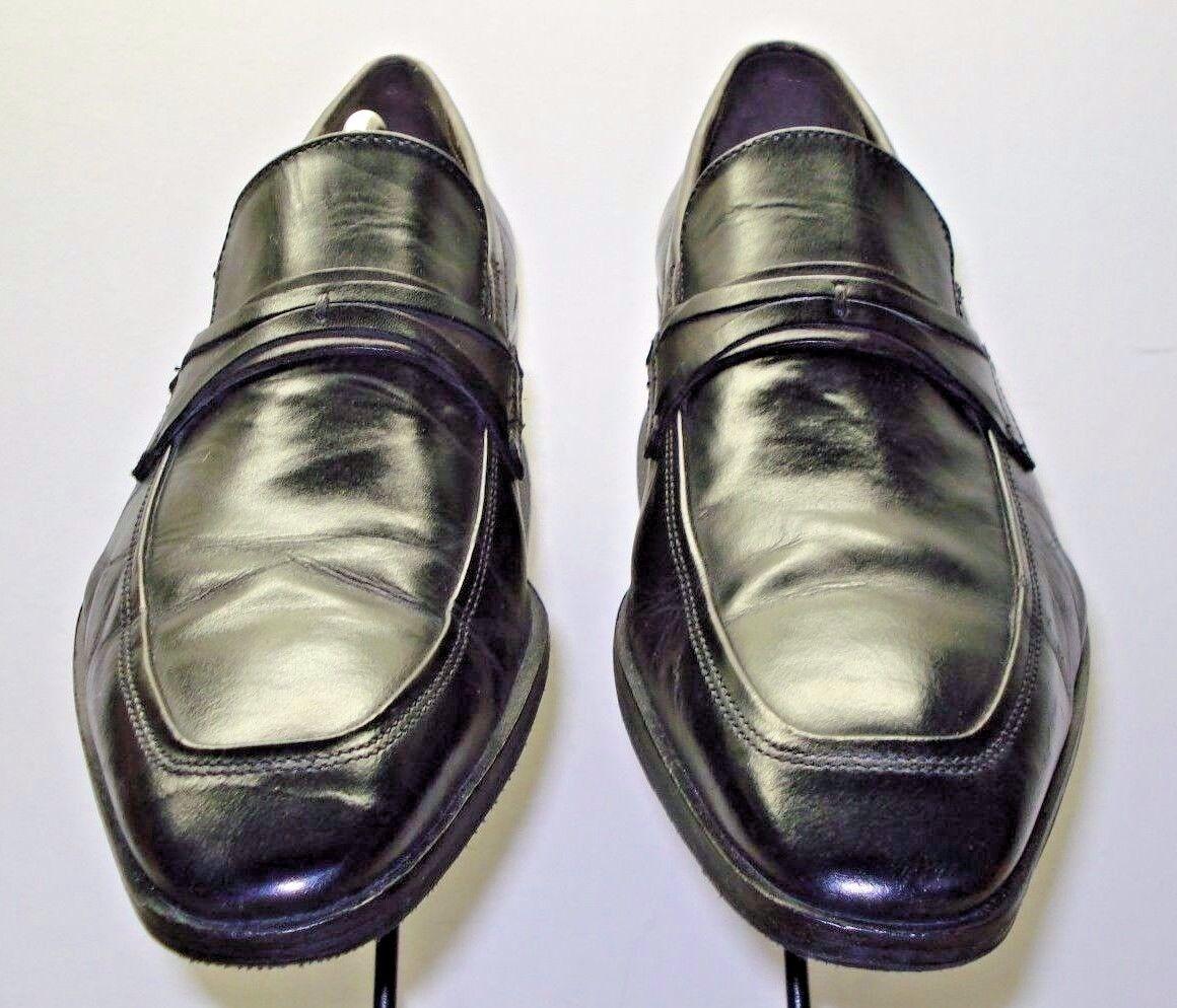 Men's Joseph Abboud Black Leather Loafer Size 11M Nice