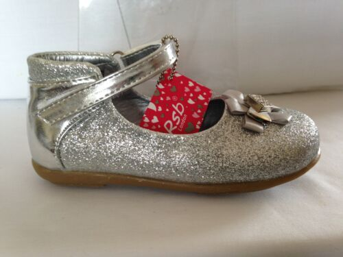 TODDLER GIRLS KIDS SPARKLY SILVER GLITTER PARTY WEDDING FLOWER GIRL SHOES 4-10