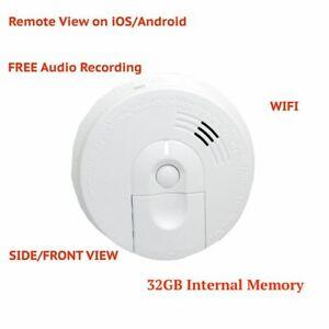 Wifi Wireless Full Hd 1080p Hidden Ac Power Smoke Detector Spy Camera Audio 819209018484 Ebay