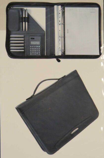 Alassio Orgamappe Porto A4 Fine touch Lederlook inkl Taschenrechner Block Griff