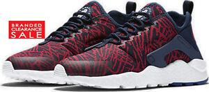 NUOVO CON SCATOLA NUOVA LINEA DONNA Nike Air Huarache Run Ultra KJCRD fedele Blu Taglia UK 4 5 6
