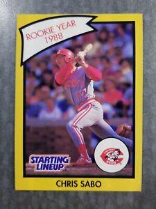 Chris Sabo Cincinnati Reds 1989 Starting Lineup R.O.Y. Kenner Baseball Card
