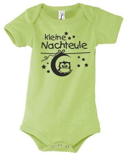 Baby Body Geburt Strampler Babybody bedruckt Druck UHU Eule Nachteule Mond 50