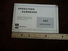 Tektronix Model 485 Instruction Manual 07 1194 00 Shelf H