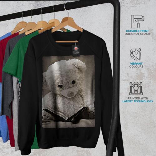 Wellcoda Fairytale Teddy Bear Womens Sweatshirt Book Casual Pullover Jumper
