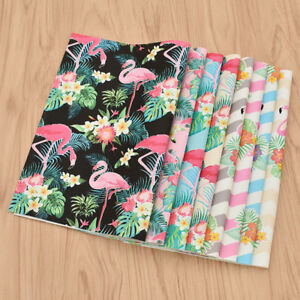 29x21cm-A4-Flamingo-Fabrics-Cartoon-Animal-DIY-Materials-For-Handbags-Garments