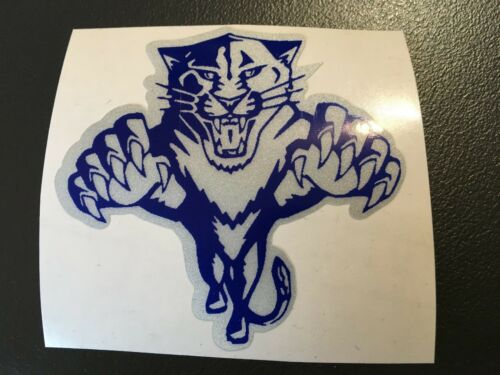 Sticker Tiger Grey And Blue Motorcycle Helmet Scooter Bicycle Retro Reflective