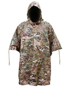 Kombat Waterproof Poncho Camo Green Black Od Airsoft Army Style Basha Military