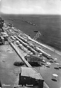 Cartolina-Postcard-Chiavari-Spiaggia-1953