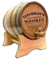 Personalized Barrel Aged Whiskey Barrel Stand Size Choice