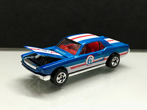65 Ford Mustang >> Details About 2019 Hot Wheels Throwback 65 Ford Mustang Open Hood Blue Loose Rivet