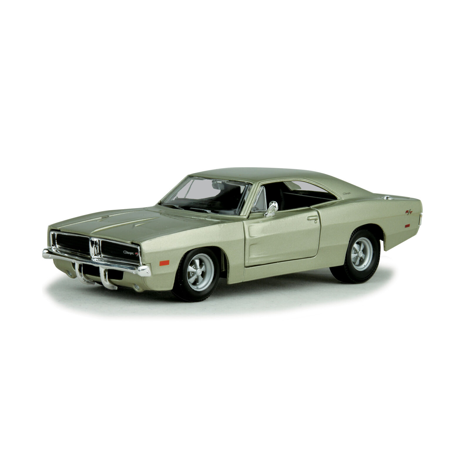 DODGE CHARGER R//T 1969 SILVER 1:25 AUTO STRADALI MAISTO SCALA 1:24 MODELS