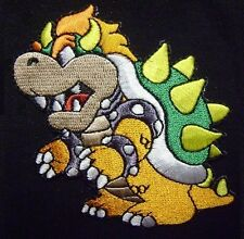 """SUPER MARIO BROTHERS BOWSER NINTENDO LOGO EMBROIDERED IRON ON PATCH 3"""" USA"""