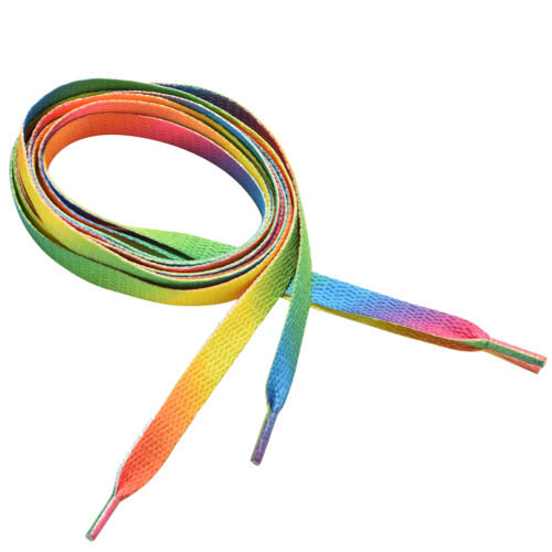 Rainbow Athletic Sport Sneaker  Shoelace Flat Bootlaces Shoelaces String Lace LY