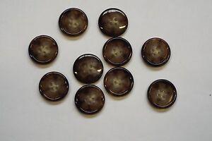 8pc 20mm Medium Walnut Brown Mock Horn Suit Coat Cardigan Knitwear Button 4320