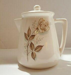 Vintage McCoy 1959 Brown Rose Pottery Teapot