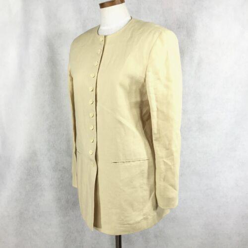 gonna York Womens 10 100 lino donna Giacca giallo chiaro New Pw56q0