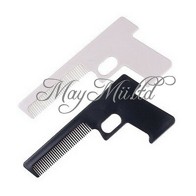 Novelty Pocket Hair Comb Shaped Like A Gun For Men And Women
