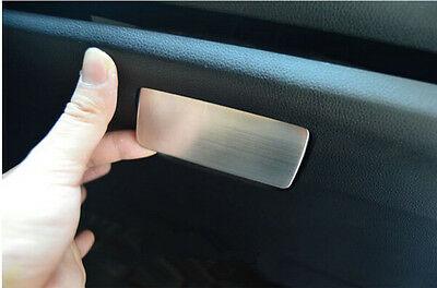 Stainless Interior Glove Box Handle Cover Trim 1pcs For Honda FIT JAZZ 2014 2015
