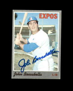 John Boccabella Hand Signed 1970 Topps Montreal Expos Autograph