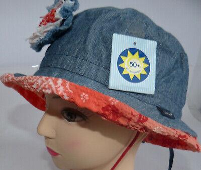 KU 48 49 50 51 52 53 54  Sonnenhut Sonnenschutz Junge Mädchen Baby handmade blau