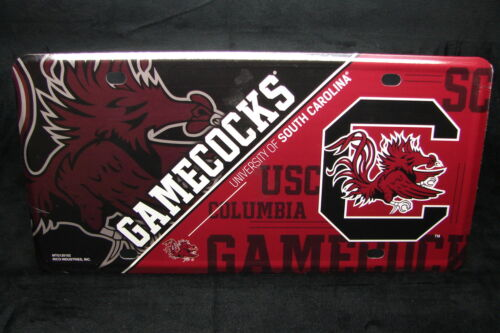 UNIVERSITY OF SOUTH CAROLINA GAMECOCKS NOVELTY METAL LICENSE PLATE TAG FOR CARS