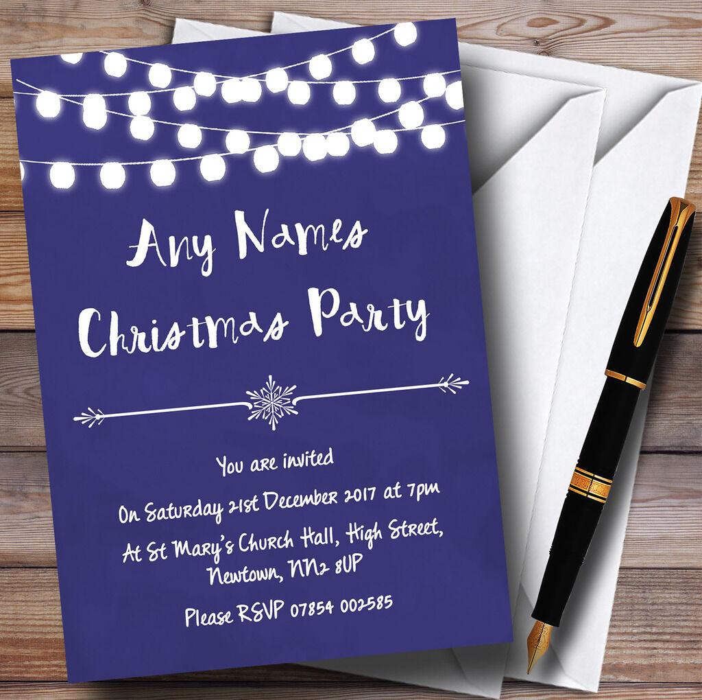 Blau Lights Personalised Invitations Christmas Party 826b74