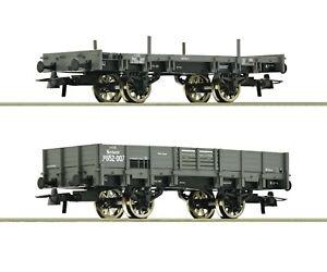 Roco-HO-67160-Exquisite-2-piece-set-Gondolas-kkStB