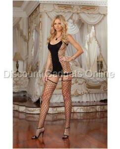 fa608977aba Opaque and fence net garter dress w attached thigh high stockings ...